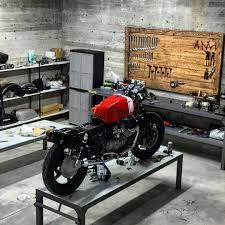moto guzzi in the garage workshop discover motomood garage