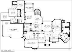 cool 6 bedroom 8000 sq ft dream single story house floor plans