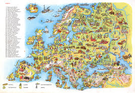 Map Of The Europe by Drawn Map Of Europe From A 1956 Kids Encyclopedia Other
