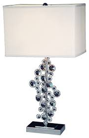 elegant designs sequin and chrome table lamp with prismatic