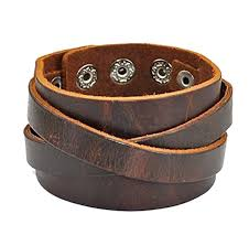 buckle leather bracelet images Cherryzz real leather cuff women leather bangle jpg