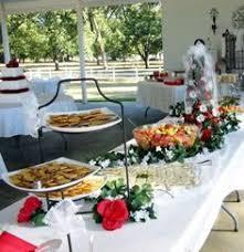 food tables at wedding reception rustic wedding reception food table decor using wood chargers made