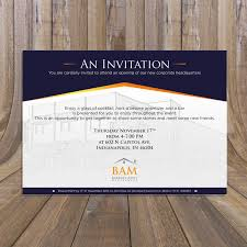 New Office Opening Invitation Card Elegant Serious Invitation Design For Barratt Asset Management By