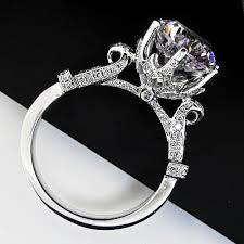 fine diamond rings images Quality guarante lord ring genuine 14k white gold 5carat diamond jpg