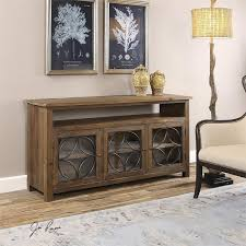 media console with glass doors wood barn door storage cabinet rustic media console consoles