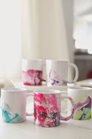 decorate your own tea cup domestic fashionista diy marbled nail coffee mugs