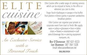 elite cuisine catering services in cork elite cuisine cork