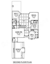 2nd Floor House Plan by Belton Woods Narrow House Plans Luxury House Plans