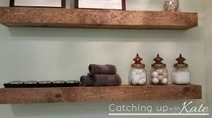 impressive reclaimed wood shelves over toilet picture design ideas