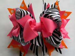 boutique hair bows hot pink zebra boutique hair bow hair bow meylah