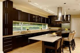 Open Kitchen Cabinet Designs New Open Kitchen With Large Prep Island And Builtin Table