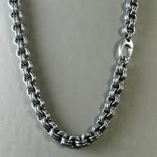 chain link necklace images Men 39 s heavy chain link necklace in oxidized sterling silver jpg