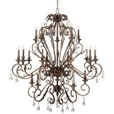 Bronze Chandelier With Crystals Franklin Iron Works Acanthus And Crystal 68