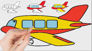 plane coloring pages for kids to learn colors l drawing coloring