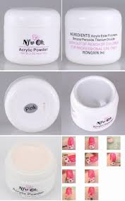 nfuoh cover pink acrylic powder gel nails sculpture colored