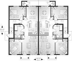 multi family house plans multi family house plans model 2 triplex semi detached modern a