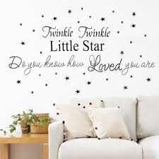 online get cheap removable wall art decals aliexpress com 2017 twinkle twinkle little star letter pattern wall stickers for kids rooms decoration home decor pvc removable wall art decals