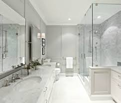 bathroom wall paneling with exposed shower bathroom transitional