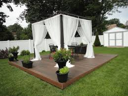 Pergola With Curtains Pergola Curtains With Floating Deck Of Small Pergola With