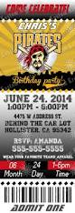 mlb pittsburgh pirates birthday invitations kustom kreations