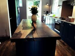 bespoke english walnut kitchen island w epoxy river timberdeal
