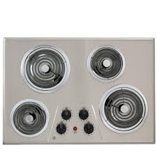 Cooktop Electric Ranges Ge 30 In Coil Electric Cooktop In Stainless Steel With 4 Elements