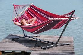 Brazillian Hammocks Wooden Hammock Set Fuego Summer Red Hammocks Hanging Chairs
