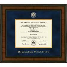 tech diploma frame church hill presidential penn state diploma frame