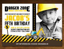 Birthday Invitation E Card Birthday Invites Construction Birthday Invitations Free Printable