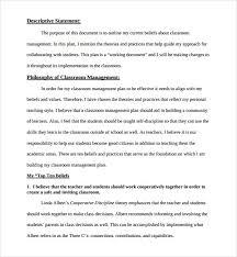 classroom management plan template best template examples
