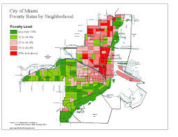 Map Of Miami Neighborhoods by Planning Demographics 2000