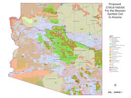 Map Of New Mexico And Arizona by Designated Critical Habitat For The Mexican Spotted Owl