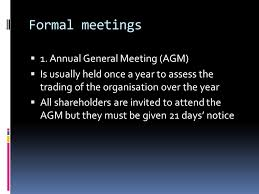 unit 11 meetings overview meetings in business types of