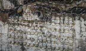 mexico city halloween massive tower of human skulls discovered in mexico city