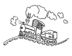 Steam Train On Bumpy Rail Coloring Page Netart Rail Color Page