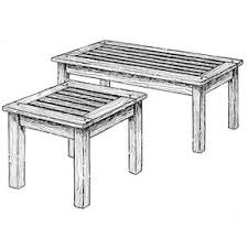 Build Outdoor End Table by Woodworking Project Paper Plan To Build Patio Coffee Table And End