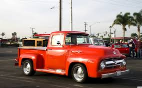 Antique Ford Truck Club - 1956 ford f100 pickup orange fvr ford products antique