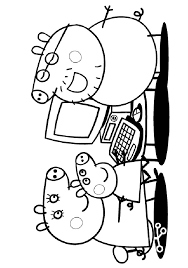 kids n fun com 20 coloring pages of peppa pig