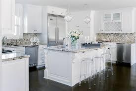 White Kitchen Cabinets With Tan Granite Countertops Transitional - Granite on white kitchen cabinets