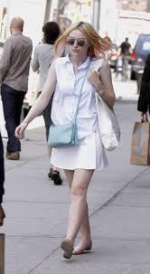 light blue crossbody purse dakota fanning carries a light blue celine trio bag in nyc 1