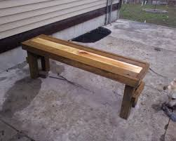 Simple Wood Bench Plans Free by Simple Wooden Bench Plans Home Design Ideas