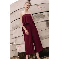 wine jumpsuit fashmob thierry jumpsuit in wine xs s fashion clothes