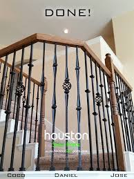 How To Refinish A Wood Banister Affordable Stair Parts How To Install Iron Balusters Diy Guide