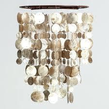 Seashell Light Fixture Pendant Light Sea Glass Pendant Lighting Blue Sea Glass Pendant