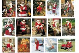 sport santa claus boxed cards