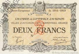 chambre de commerce d avignon billets du xxème siècle les billets des chambres de commerce