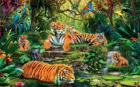 animal kingdom jungle tigers birds hd wallpaper wallpapers13 com
