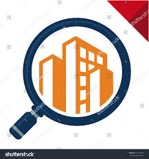 abstract logo icon search review inspection stock vector 711130390