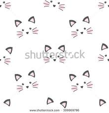 wallpaper cat illustration cute cat face seamless wallpaper stock photo photo vector