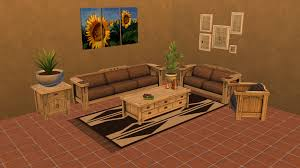 Mission Style Living Room Set Mod The Sims The Sims 3 Mission Style Living Room Set Converted